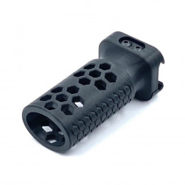 Grip Vertical Trilho Picatinny Hexagono 3D - Preto