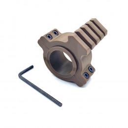 Suporte Elevador 20mm com Trilho 3D para Luneta - Tan