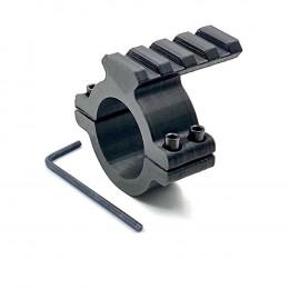 Suporte Elevador 20mm com Trilho 3D para Luneta - Preto