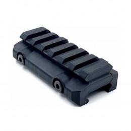 Suporte Elevador Trilho 20mm 6 Slots 3D - Preto