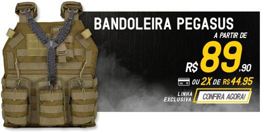 Bandoleira Tática Pegasus Esportes em Paracord