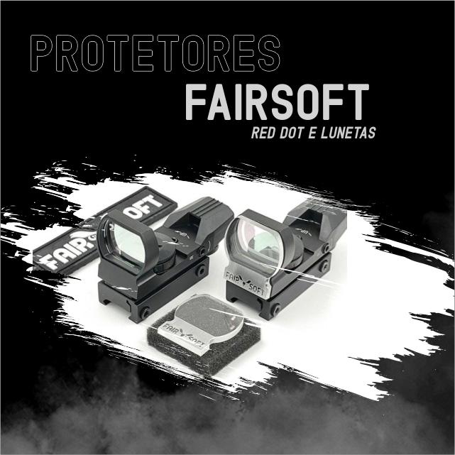 Protetores fairsoft Mira Red Dot e lunetas